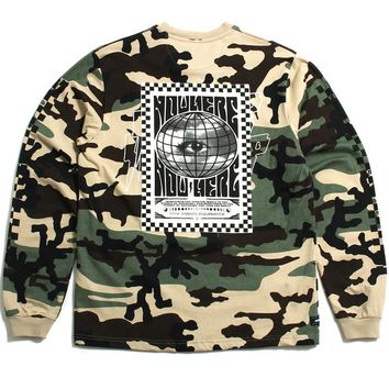Destination Unknown Longsleeve T-Shirt New Woodland Camo