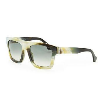 ONETOW multi tone acetate sunglasses yellow buffalo horn balenciaga 2
