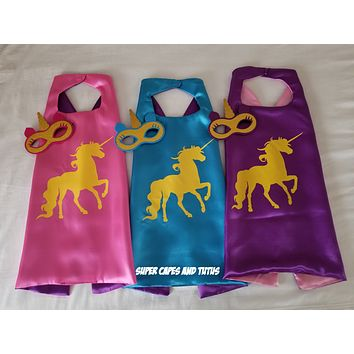 Unicorn Cape and Mask