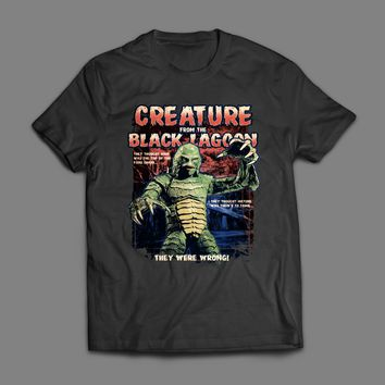 VINTAGE CREATURE FROM THE BLACK LAGOON MOVIE POSTER T-SHIRT