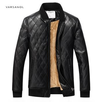 Bomber Jackets Men Warm Coats Solid Baseball Collar Male Long Sleeve Winter Thickness Outerwear