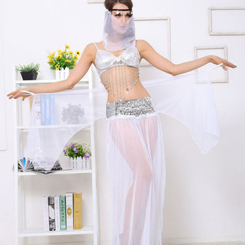 White Arab Belly Dance Costume