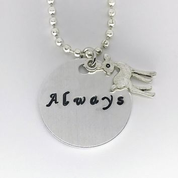 Harry Potter Hand Stamped Always Aluminum Necklace Handmade