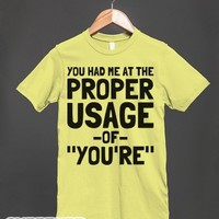 Proper Usage of You're-Unisex Lemon T-Shirt