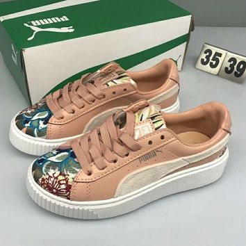 Puma Suede Creepers Embroidered muffin shoes