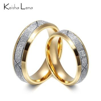 Keisha Lena Rhinestone gold-color Lady Stainless Steel Rings Oblique A Row Full Drill Zircon