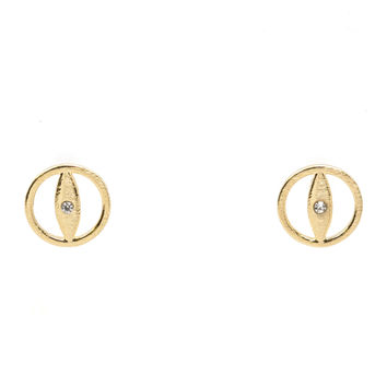 Encircled Evil Eye Studs