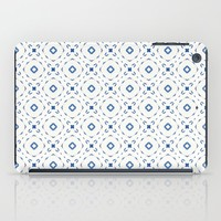 Acrylic Blue Square Dots iPad Case by Doucette Designs