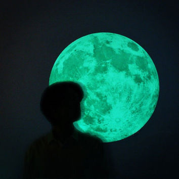 Glow in the Dark - Luminous Moon - Wall Decor