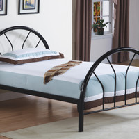 Bed - Twin Size - Black Metal Frame Only