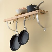 Maple Wall Mounted Pot Rack in Pot Racks | Crate and Barrel