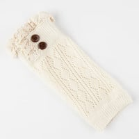 2 Button Pointelle Boot Cuff Socks Ivory One Size For Women 26658516001