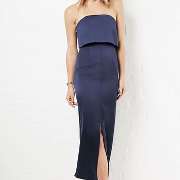 DailyLook: Keepsake Keep Watch Maxi Crepe Dress in Navy XS - M