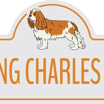 "Cavalier King Charles Spaniel Street Sign | Indoor/Outdoor | Dog Lover Funny Home Décor for Garages, Living Rooms, Bedroom, Offices | SignMission Personalized Gift | 36"" Wide"