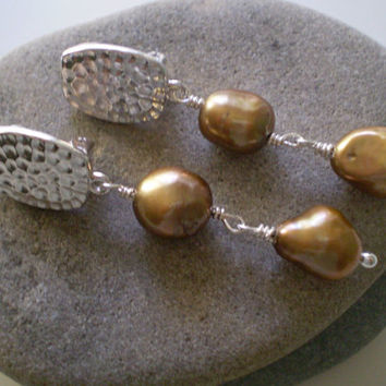 lovely auctions freshwater baroque bronze pearls