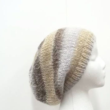 Knitted slouch hat   5074