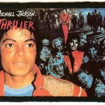 Michael Jackson Sew On Patch Thriller Photo Logo