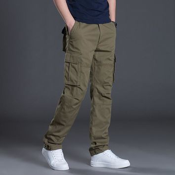 High Quality Cargo Pant Long Trousers Spring Outdoors Tactical Military Men Cotton Pants Multi Pocket Army Mens Joggers Clothing
