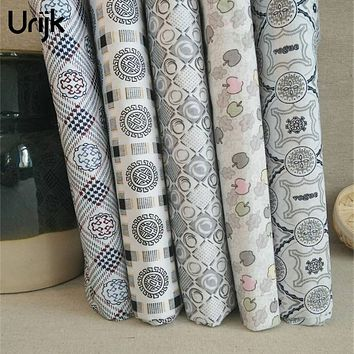 Urijk Mixed 5PCs/Lot 25*25cm Flower Printing Fabric Printing Fabric DIY Sewing Accessories Quilting Bedding Material Cloth