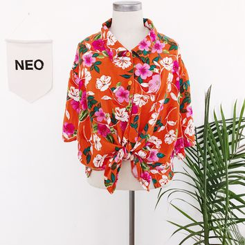 Tangerine Hawaiian Top