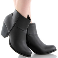 Baba-03 Chunky Heel Ankle Boots