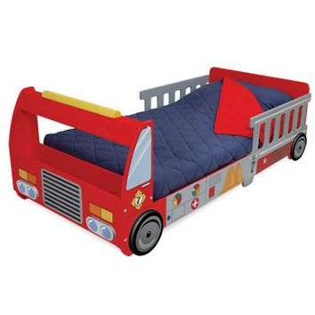 KidKraft 76021 Fire Truck Toddler Cot