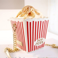 Vintage popcorn shoulder bag
