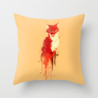 The fox, the forest spirit Throw Pillow by Budi Satria Kwan