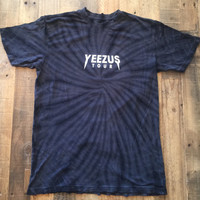 Yeezus Tour Charcoal Tie Dye Tee Yeezy Tour Merch T-Shirt