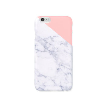 iPhone case - Indian pink edge of a marble - iPhone 6 case, iPhone 6 Plus, iPhone 5s case, Good Luck Gold Sticker, non-glossy hard shell M06