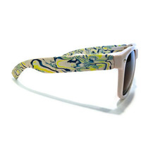 Fashionable Blue and Yellow Marbled Wayfarers