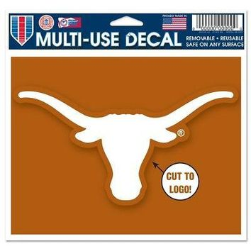 """Licensed Texas Longhorns Official NCAA 4.5""""x5.75"""" MultiUse Car Decal by Wincraft 352781 KO_19_1"""