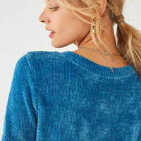 UO Short Sleeve Chenille Sweater | Urban Outfitters