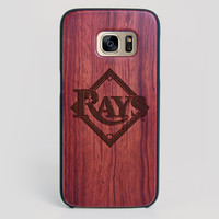 Tampa Bay Rays Galaxy S7 Edge Case - All Wood Everything