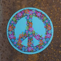 Car  Magnets:  Teal  Peace  Sign  Car  Magnet  From  Natural  Life