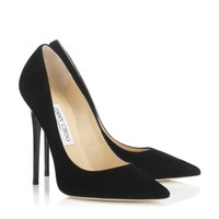 Blackberry Suede Pointy Toe Pumps | Anouk | Autumn Winter 15 | JIMMY CHOO Shoes