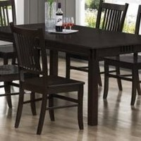 Marbrisa Dark Cappuccino Dining Table By Coaster Furniture