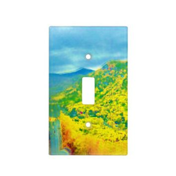 Air Brushed Chimney Rock Scenery Light Switch Cover