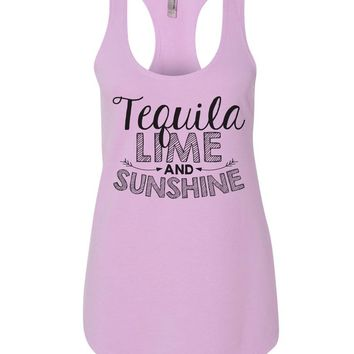 Tequila Lime And Sunshine Womens Workout Tank Top