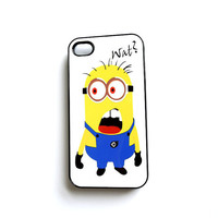 Wat Minion iPhone Case Galaxy S3 Case Free Shipping in US