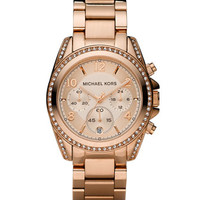 Michael Kors Rose Golden Stainless Steel Blair Glitz Watch