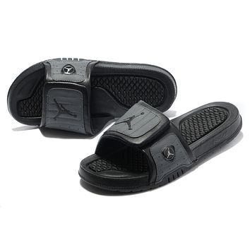 Nike Jordan Hydro XIV Black/Gray Sandals Slipper Shoes Size US 7-13