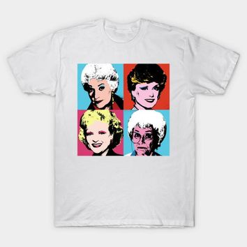 Golden Warhol Girls, Men's Slim Fit T-Shirt
