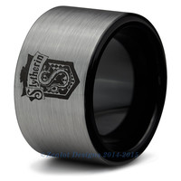 Harry Potter Slytherin Ring Hogwarts Ring Mens Fanatic Geek Sci Fi Boys Girl Womens Ring Mens Birthday Wizard Harry Potter Books