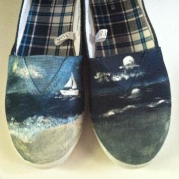 customized toms keds converse vans made to order  number 3