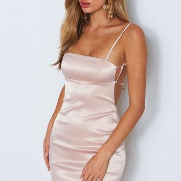 High Society Mini Dress Oyster