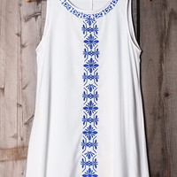 Cupshe After Forever Embroidered Tank Top