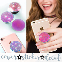 Iridescent Silver Sparkle 3D DECAL/STICKER ONLY stand for selfie holder, phone grip, tablet
