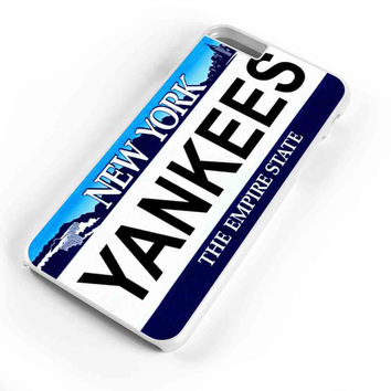 Yankees New York State Background License Plates  iPhone 6s Plus Case iPhone 6s Case iPhone 6 Plus Case iPhone 6 Case