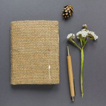 Notebook with reed, Handmade paper notebook, Handmade sketchbook, Pocket notebook, Gift for painter, writer